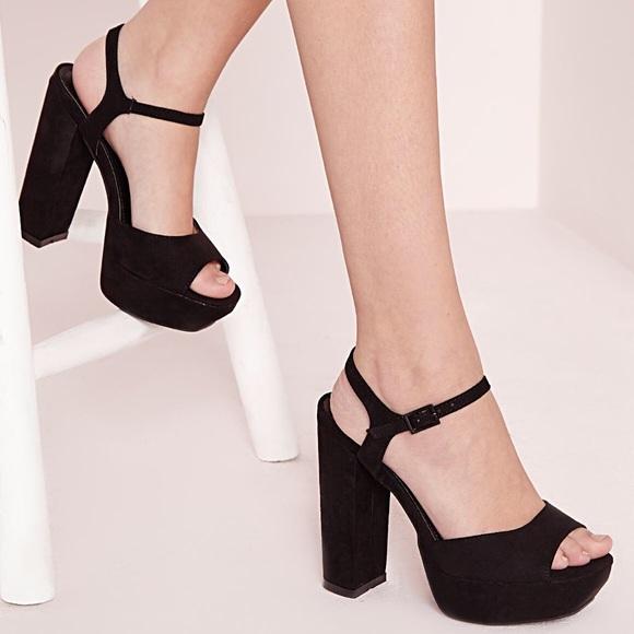 5ab1599d31 Missguided Black Crushed Velvet Platform Heels. M_5bf9b9d3534ef9c11b9978cc